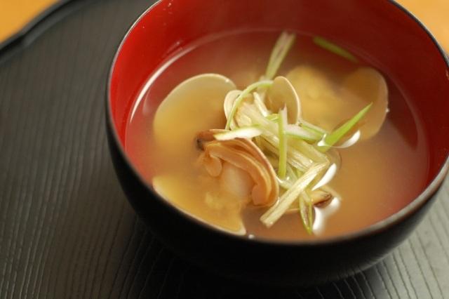 日本酒おつまみ二日酔いアサリの味噌汁