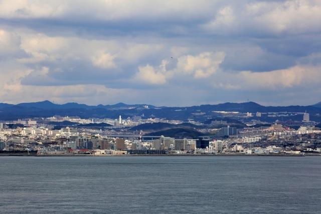 神戸市と六甲山の画像