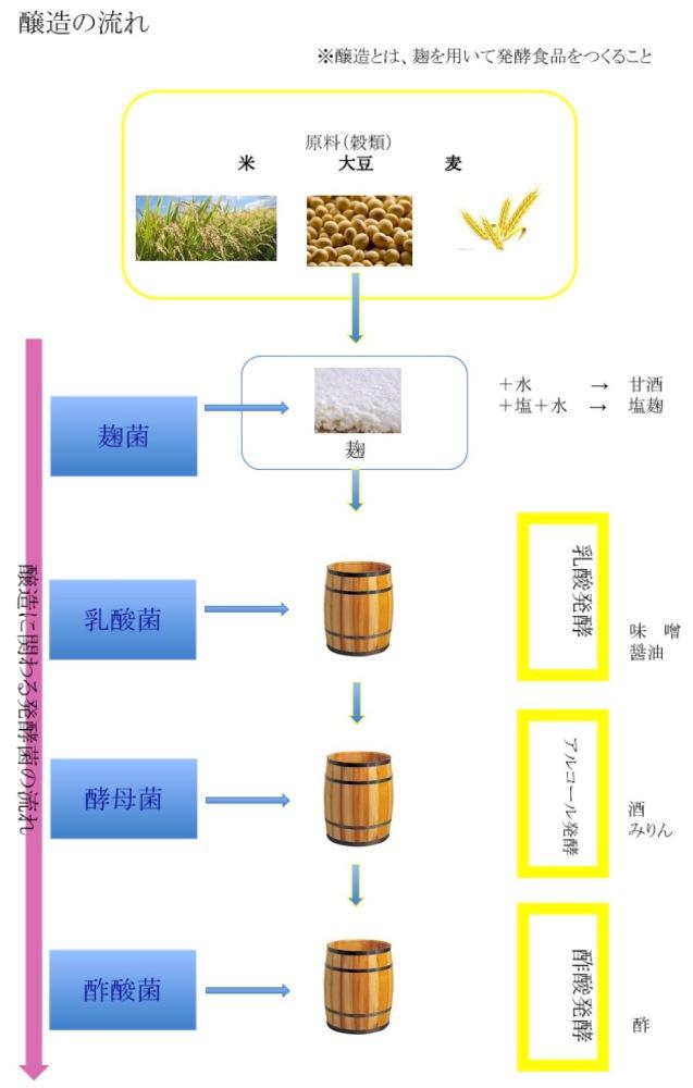 醸造の流れについて説明する画像