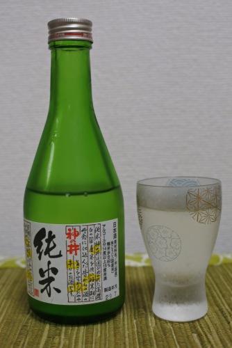 神の井純米の表ラベルの画像