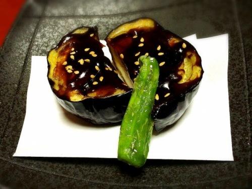 日本酒のおつまみ 茄子の田楽
