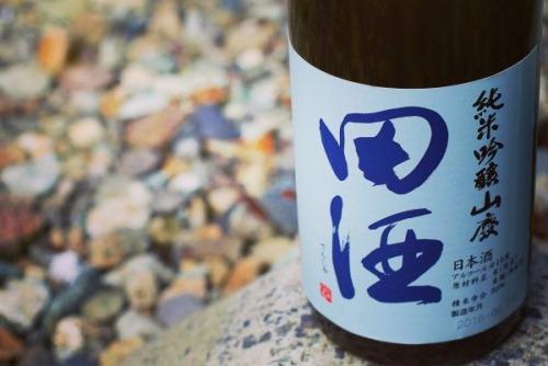 青森の日本酒「田酒」のボトルの画像
