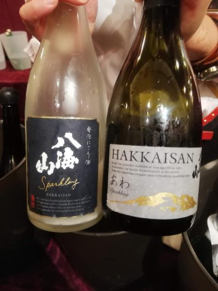 スパークリング日本酒のコーナーの画像