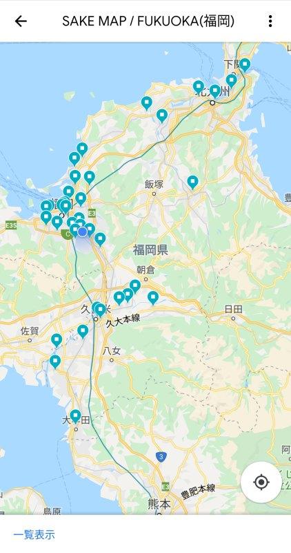 日本酒のシェアマップsakemapの地図上表示の画像
